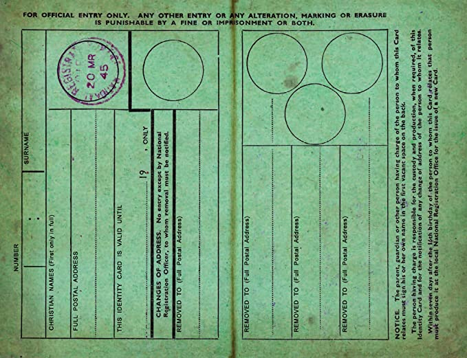 Children S Identity Card From World War 2 Replica Document Amazon Co Uk Office Products