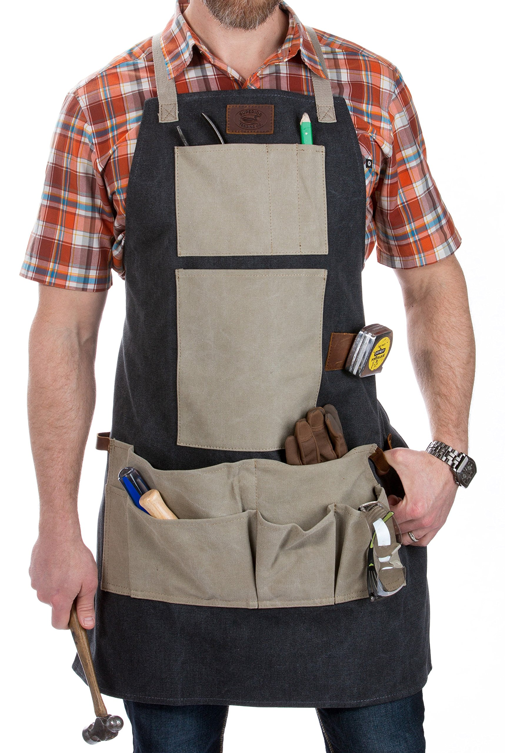 Superior Trading Co. Heavy Duty Canvas Woodworking Apron