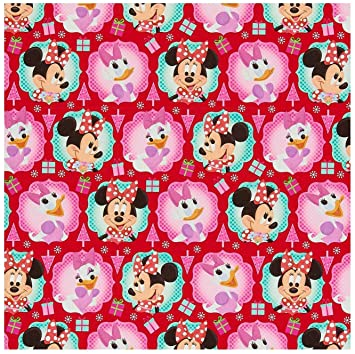 disney minnie mouse christmas wrapping paper 70 sq feet