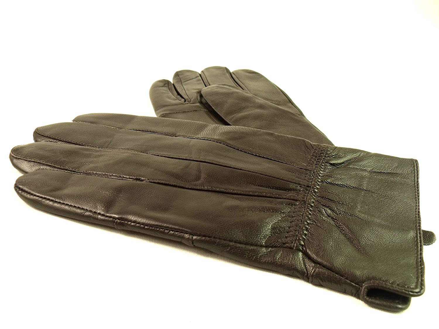 Mens leather gloves amazon uk - Mens New Brown Fully Lined Leather Gloves 8922