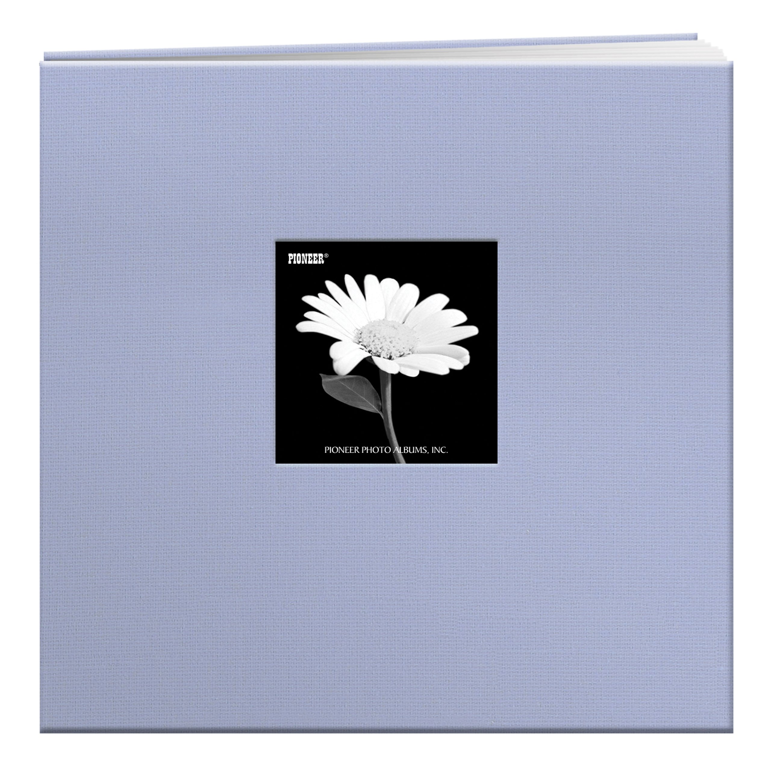 Pioneer 12 Inch by 12 Inch Postbound Fabric Frame Cover Memory Book, Heavenly Blue