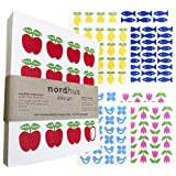 Nordhus Design Swedish Dishcloths for Kitchen - 10 Pack | Cellulose Sponge Cloths | Reusable Paper Towels | Eco Friendly & Bi