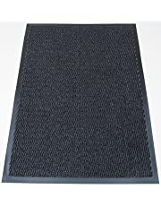 Machine Washable Grey Black Heavy Quality Non Slip Hard Wearing Barrier Mat. Available in 8 sizes (80cm x 120cm)