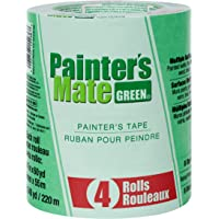 """Painter's Mate 684275 8-Day Painting Tape, 1.41""""x 60 yd, Green (4-Pack)"""