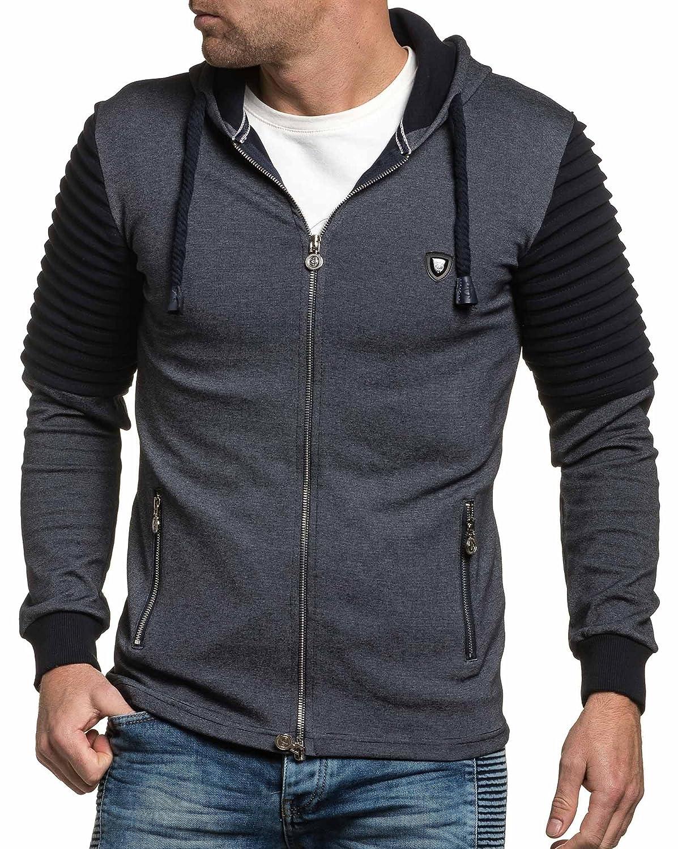 BLZ jeans - Vest hoody man navy blue fashion