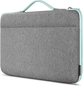 Inateck Laptop Sleeve Shockproof Water-Resistant Case Compatible with 16'' MacBook Pro, 15'' MacBook Pro 2016-2019(A1990/A1707), 15.4'' MacBook Pro 2013-2015, 14'' Laptops Briefcase Bag- Mint Green