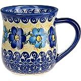 Classic Boleslawiec, Polish Pottery Hand Painted Ceramic Mug 350ml 053-U-005 by BCV Boleslawiec Pottery