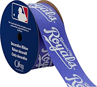 "product image for Offray MLB Kansas City Royals Fabric, 1-5/16"" X 9FT Ribbon"