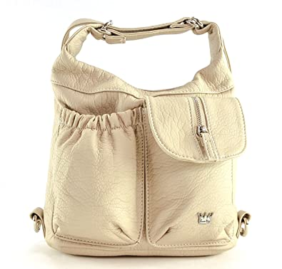 2a5f062a7e Amazon.com  Purse King Mini Butterfly Convertible Purse (Backpack and Shoulder  Bag) in Soft Vegan Leather (Beige)  Shoes