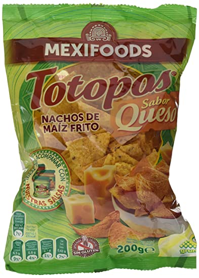 Mexifoods Totopos Queso Mexi - 5 Paquetes de 200 gr - Total: 1000 gr