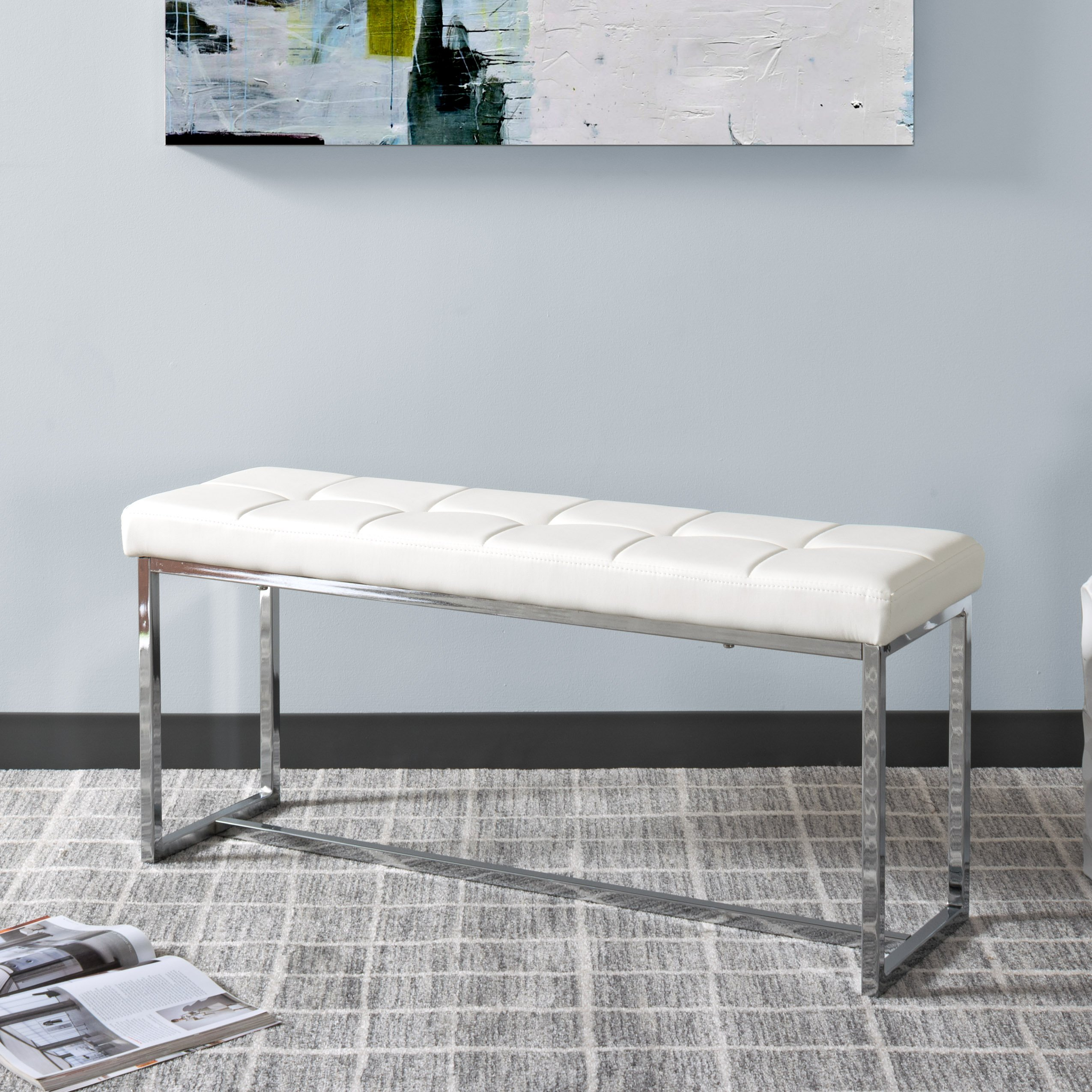 CorLiving LDF-112-O Huntington Bench White by CorLiving (Image #3)
