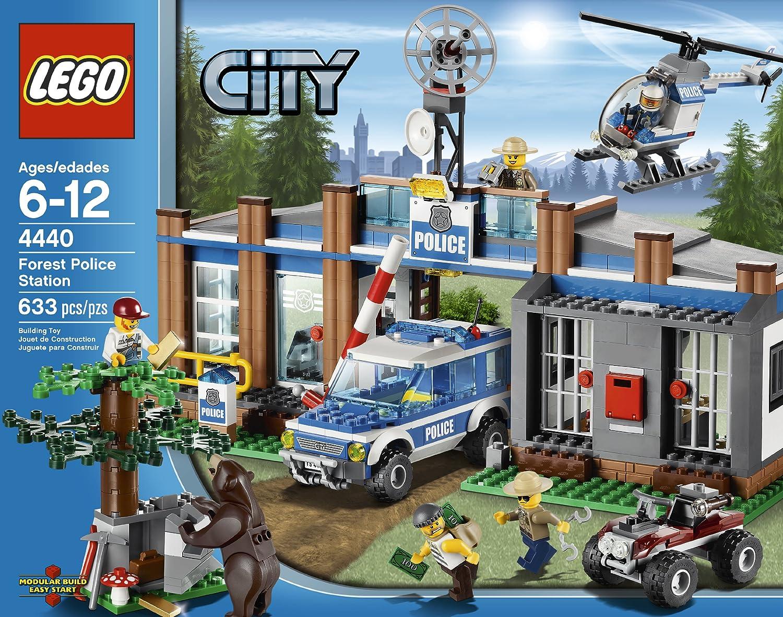 amazoncom lego city police forest station 4440 toys games - Lgo City Police