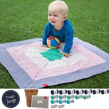 Babydecke Häkeln Set Häkelset Babydecke Kleiner Liebling Design