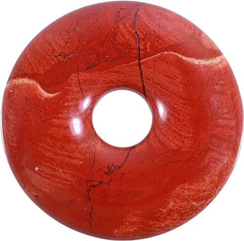 Lebensquelle Plus Breckzienjaspis Breckzien Jaspis Edelstein Donut /Ø 30 mm Anh/änger