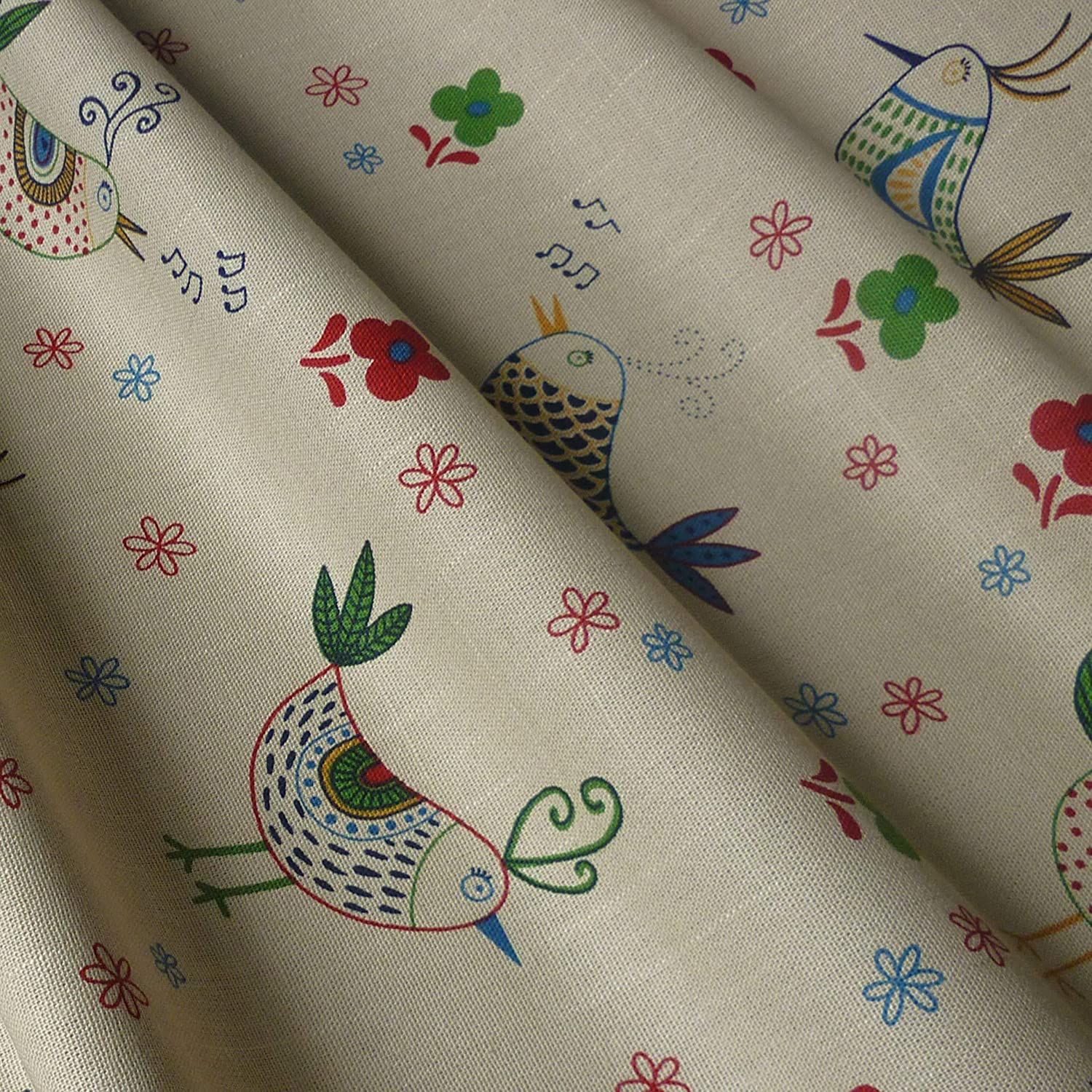 White Polycotton Fabric with Multi Spotted Butterflies Per Metre