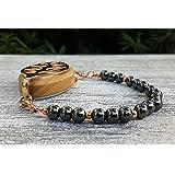 Hematite Bracelet or Bellabeat Nature, Urban or Impulse Leaf Bracelet