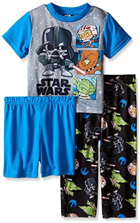 Star Wars Little Boys Baby Rebels and Dark Side Troubles 3-Piece Pajama Set Blue
