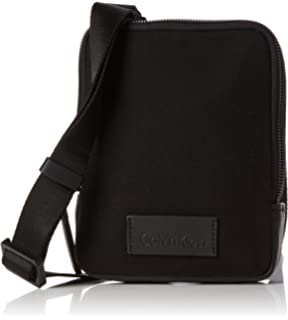 88ede8bf90 Calvin Klein Modern Bound Mini Reporter, Men's Shoulder Bag, Black, 4x18x18  cm (
