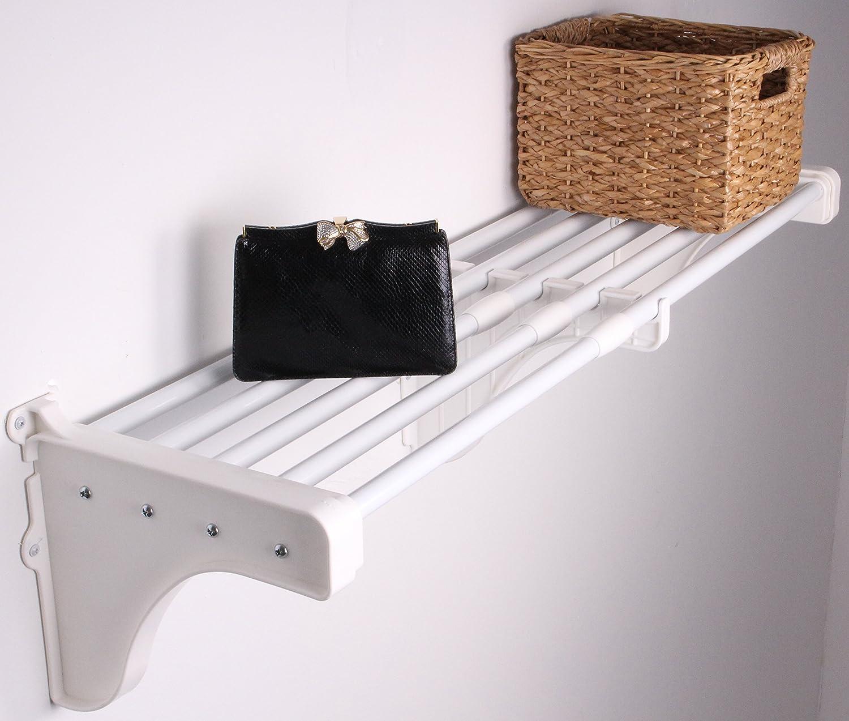 Amazoncom Ez Shelf Expandable Closet Shelf Only No Hanging Rod