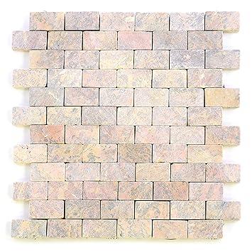 Divero Marmor Matten X Cm NatursteinMosaik Fliesen Für Wand - Stein fliesen für aussenbereich