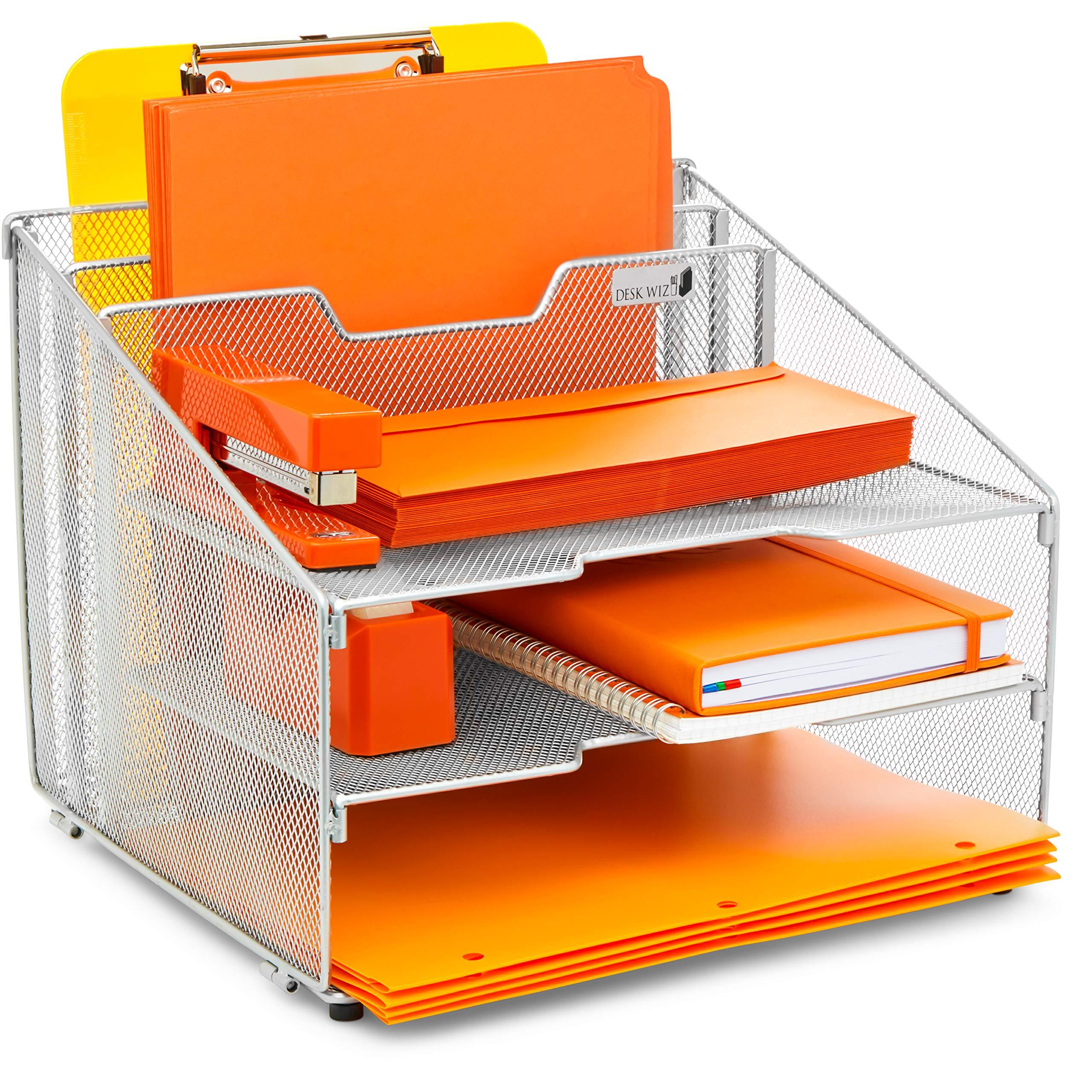 Outstanding Desk Wiz Desk Organizer File Folder Holder All In One With Home Remodeling Inspirations Cosmcuboardxyz