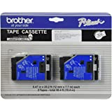 Brother Tc-20 0.47-Inch x 25.2 Ft. - Black On White Tape
