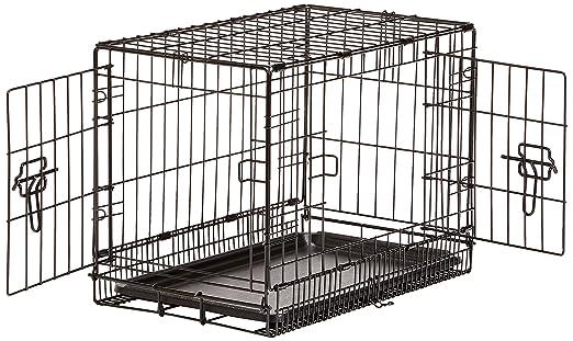 104 opinioni per AmazonBasics- Gabbia per cani in metallo, pieghevole, con 2 sportelli, 56 cm