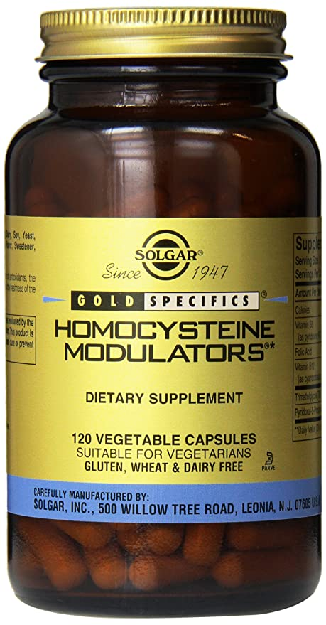 Solgar Homocysteine Modulators Vegetable Capsules, 120 Count by Solgar