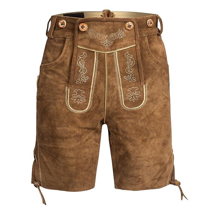 TirolésCon Tirantes Pantalones Piel Cortos De HombreEstilo Para iukOPZX