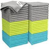 AIDEA Microfiber Cleaning Cloths-50PK, Softer Highly Absorbent, Lint Free Streak Free for House, Kitchen, Car, Window Gifts(1
