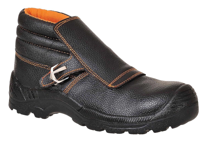 US Size 11 Split Leather Portwest FW07BKR44 Compositelite Welders Boot Black