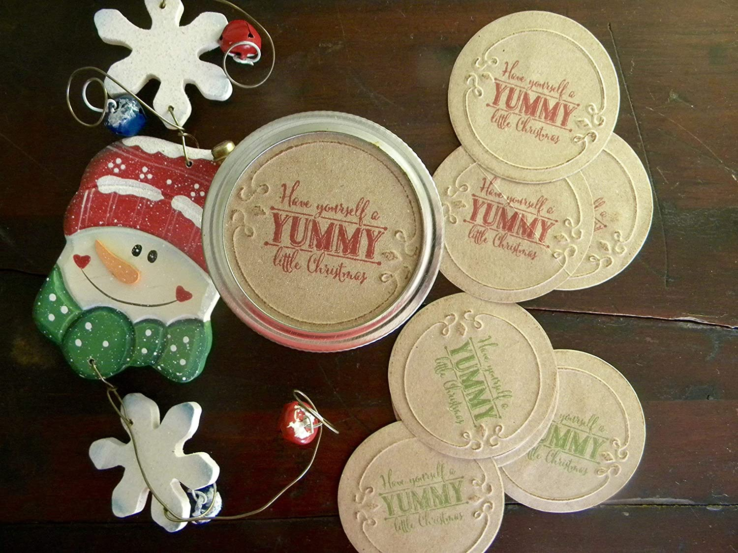Family Recipe Canning Jar Stickers Lid Inserts Jar Toppers Christmas Jar Stickers Mason Jar Labels Holiday Gifts Secret Recipe