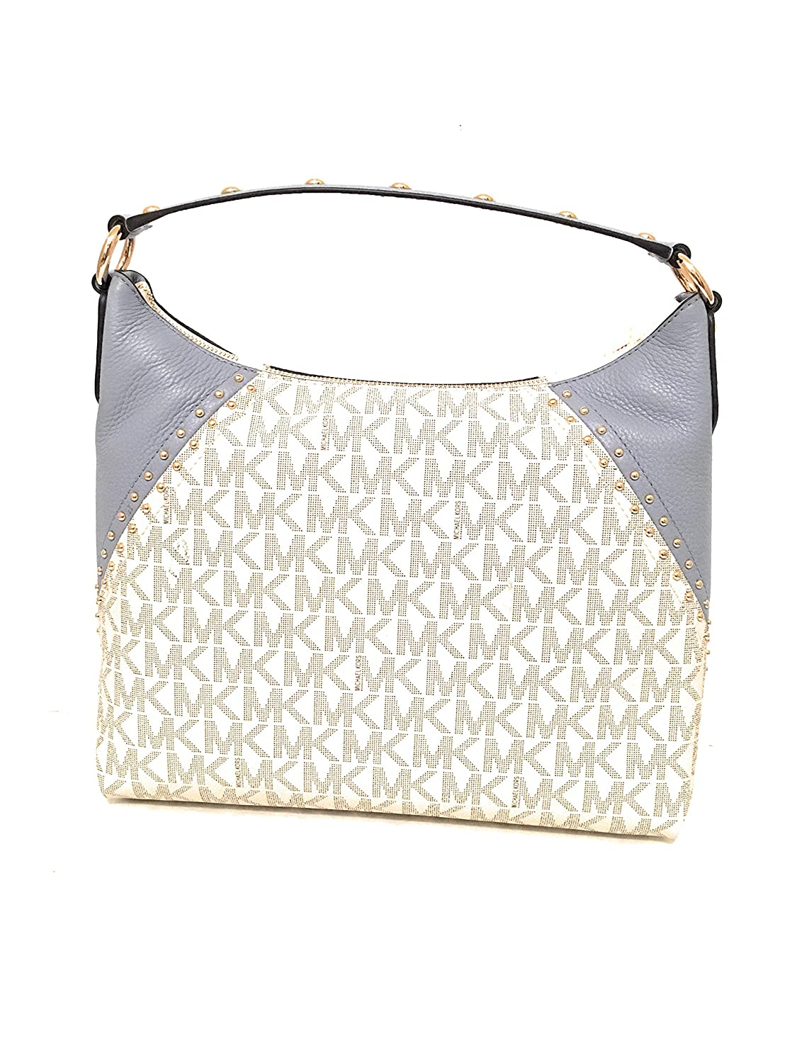47c89a92d04e Michael Kors Aria Medium Monogram Signature Vanilla/Pale Blue Pvc/Leather Shoulder  Bag (35S8GXAL2B): Handbags: Amazon.com