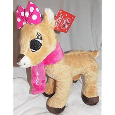 "Dan Dee 2013 Rudolph 11"" Plush Clarice Reindeer With Pink Scarf: Toys & Games"