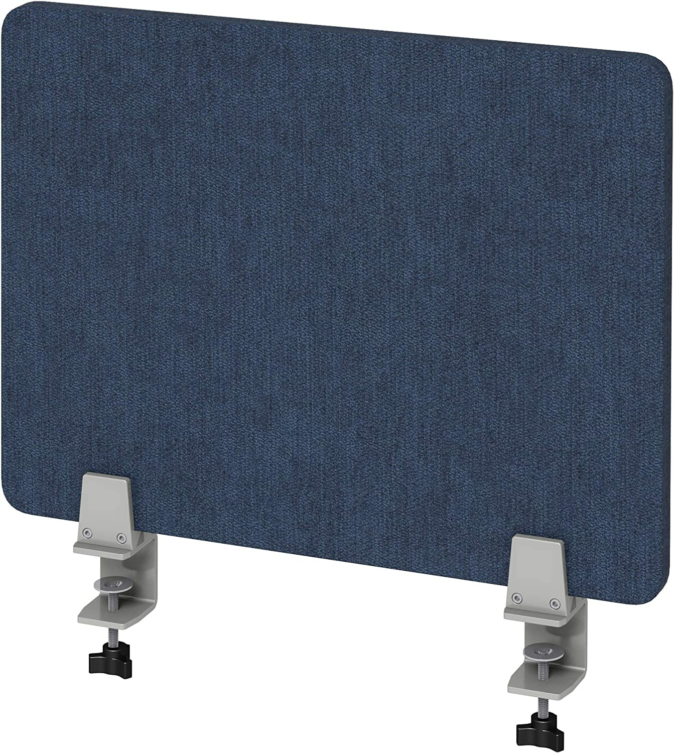 "VaRoom Acoustic Desktop Privacy Divider, 23""W x 18"" H Sound Absorbing Clamp-on Cubicle Desk Divider Partition Panel in Dark Blue Tackable Fabric"