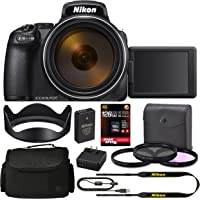 Nikon COOLPIX P1000 Digital Camera (26522) + 128GB Pro Kit: International Version (1 Year CPS…