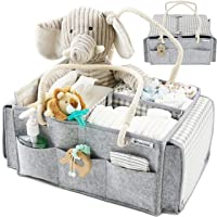 Panda BéBé Premium Travel Diaper Caddy Organizer Bag with Cotton Rope Handles, Portable...