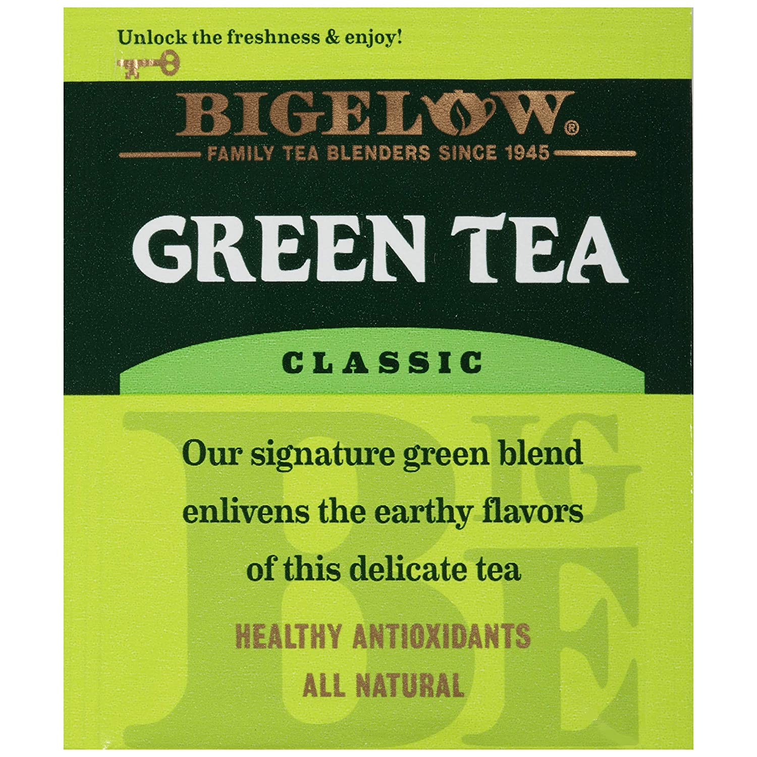 Bigelow Classic Green Tea 28-Count Box (Pack of 3) Premium Bagged Green Tea Bright Antioxidant-Rich All Natural Medium-Caffeine Tea