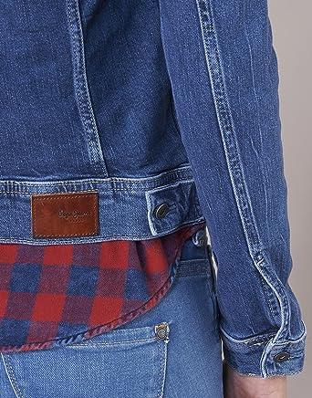 Pepe Jeans damska kurtka dżinsowa - niebieski - medium: Odzież