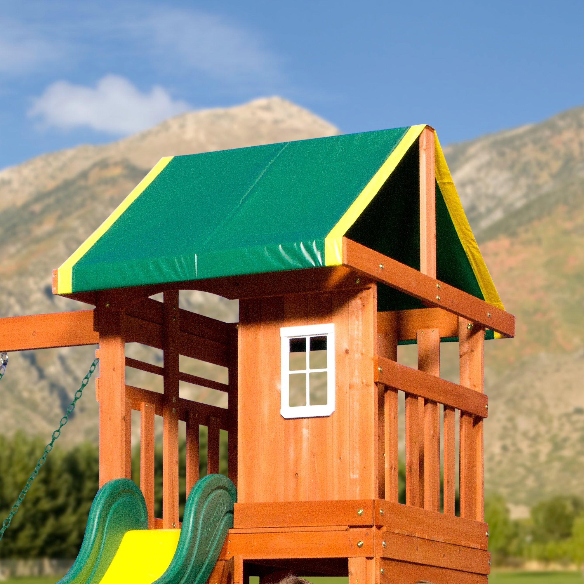 Backyard Discovery Oakmont All Cedar Wood Playset Swing