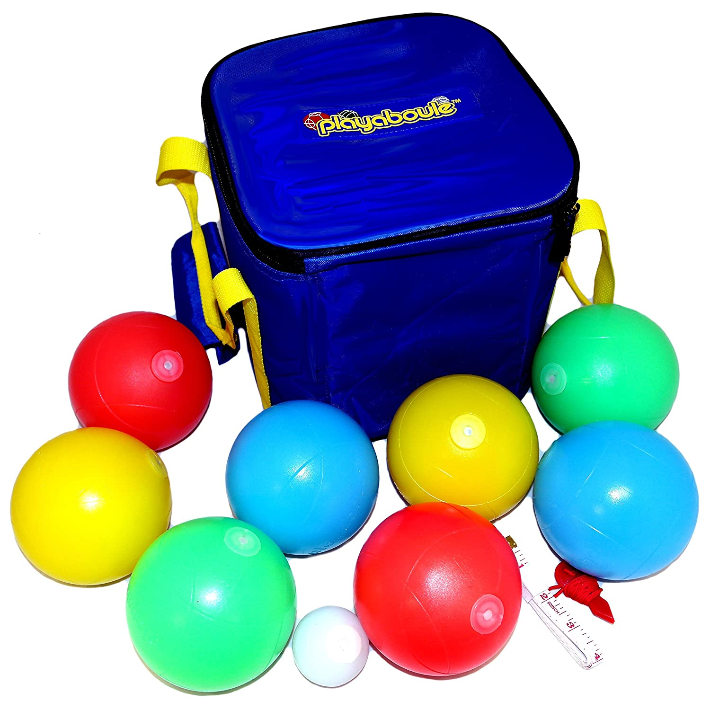 amazon com playaboule patented v3 dlx lighted bocce ball set