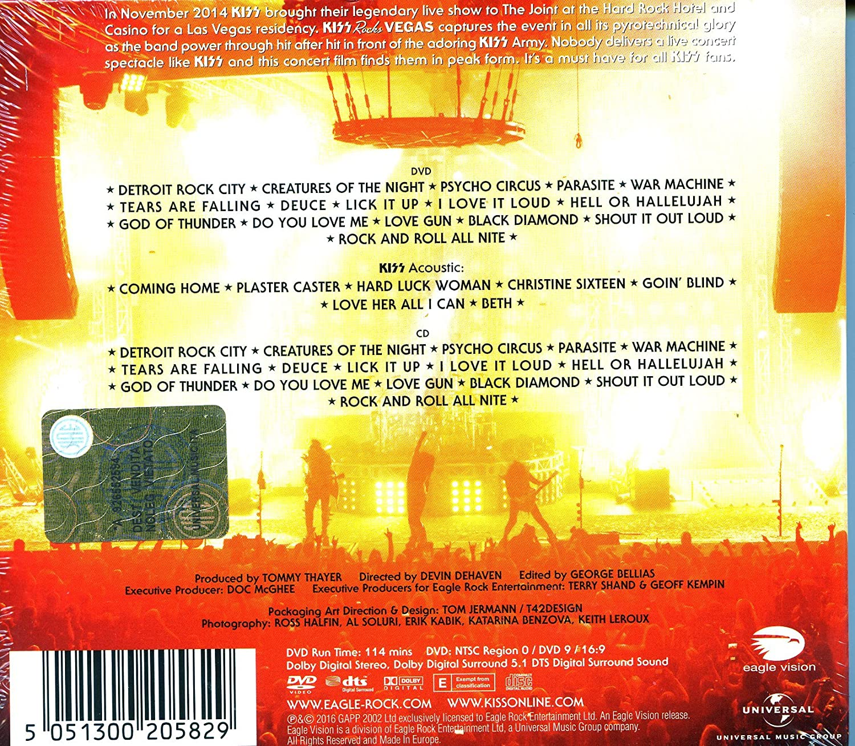 Amazoncom Kiss Kiss Rocks Vegas DVDCD Kiss Movies TV