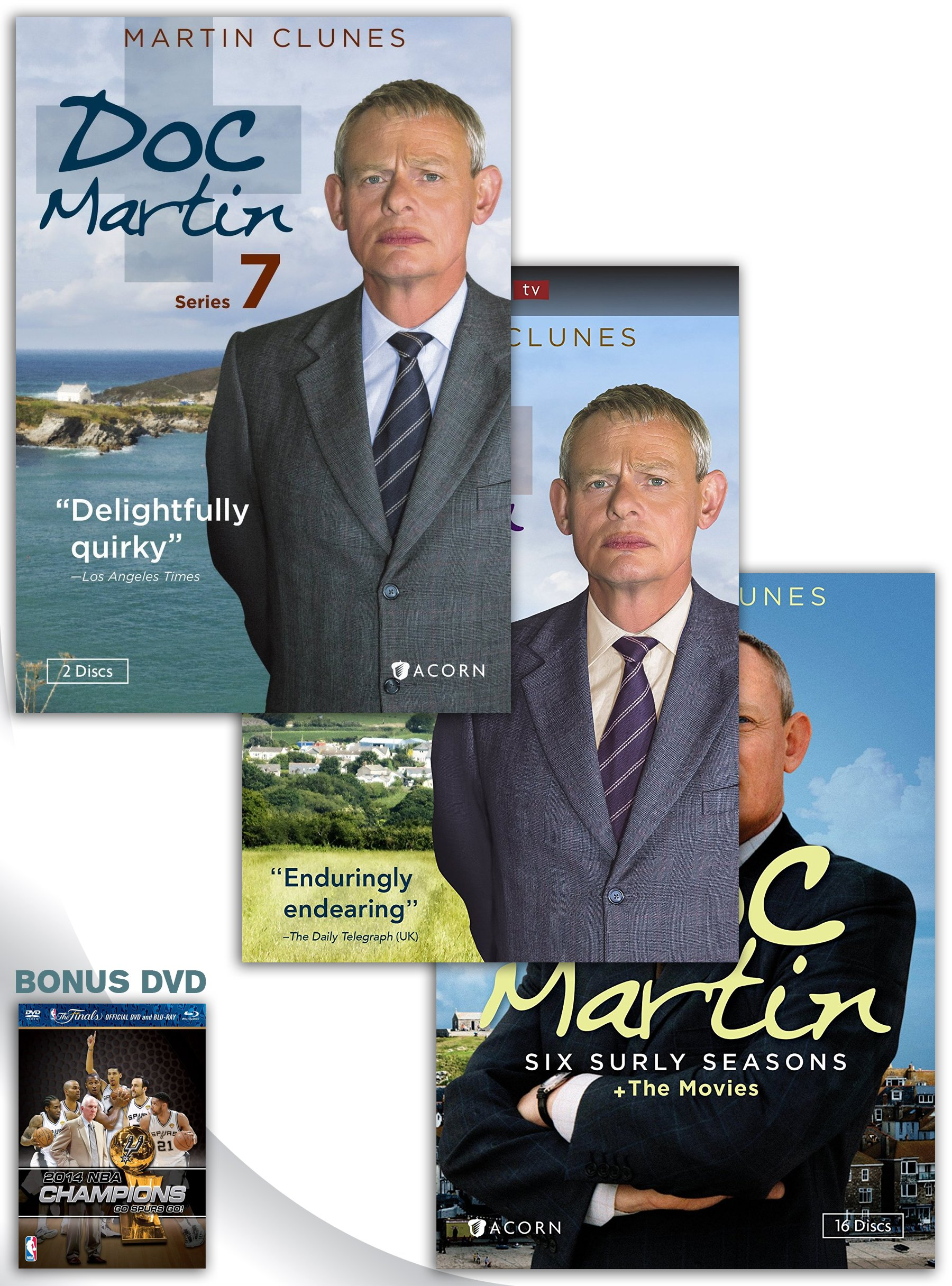 Doc Martin, Series 7 DVD + Doc Martin: Series 8 DVD + Doc Martin: Six Surly Seasons + The Movies DVD Box Set with Bonus DVD by ACORN-MEDIA
