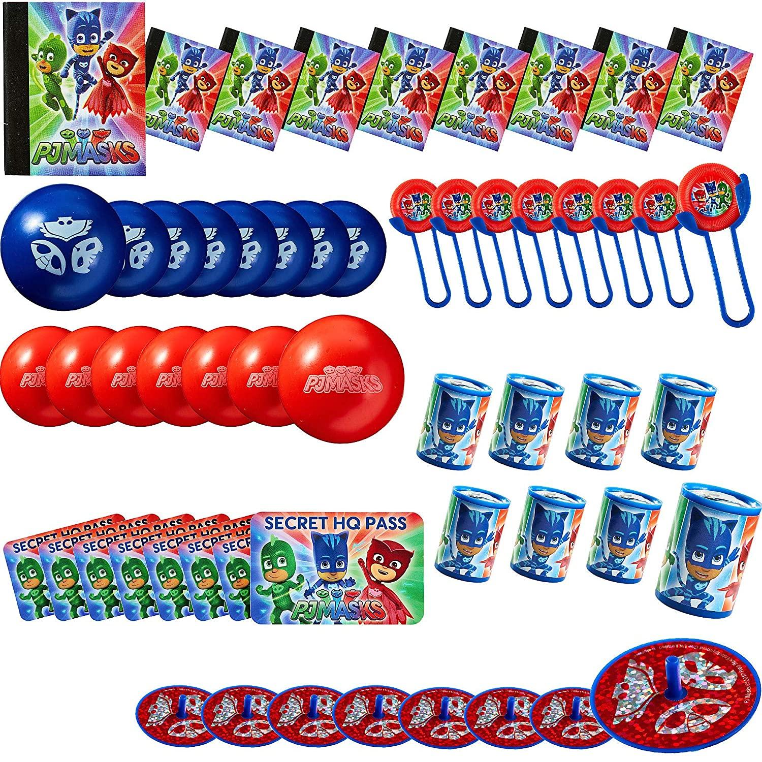 Amazon.com: PJ Máscaras Mega Mix Value Pack Party Favor, 48 ...