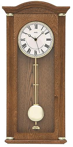 Reloj de péndulo/movimiento de cuarzo DCF/Made in Germany AMS: Amazon.es: Relojes