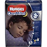 HUGGIES OverNites Diapers, Size 5, 21 ct., Overnight Diapers (Packaging May Vary)