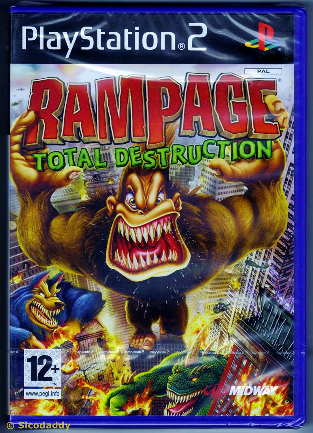 Rampage Total Destruction Playsta New Ps2 Game Amazon Co Uk