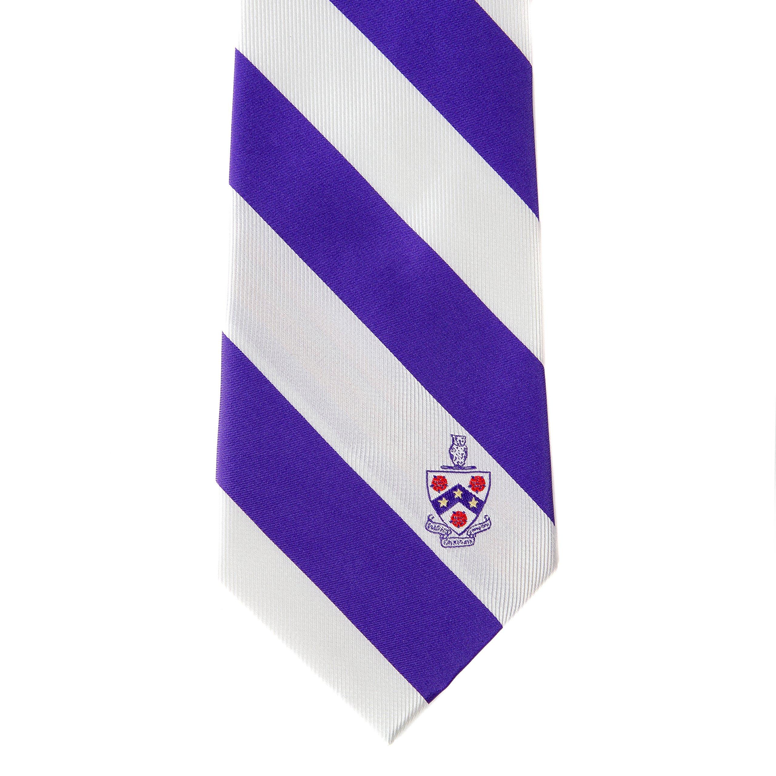Phi Gamma Delta Fraternity Necktie Tie Greek Formal Occasion Standard Length Width Hanky Pocket Square Fiji (Striped Crest Necktie)