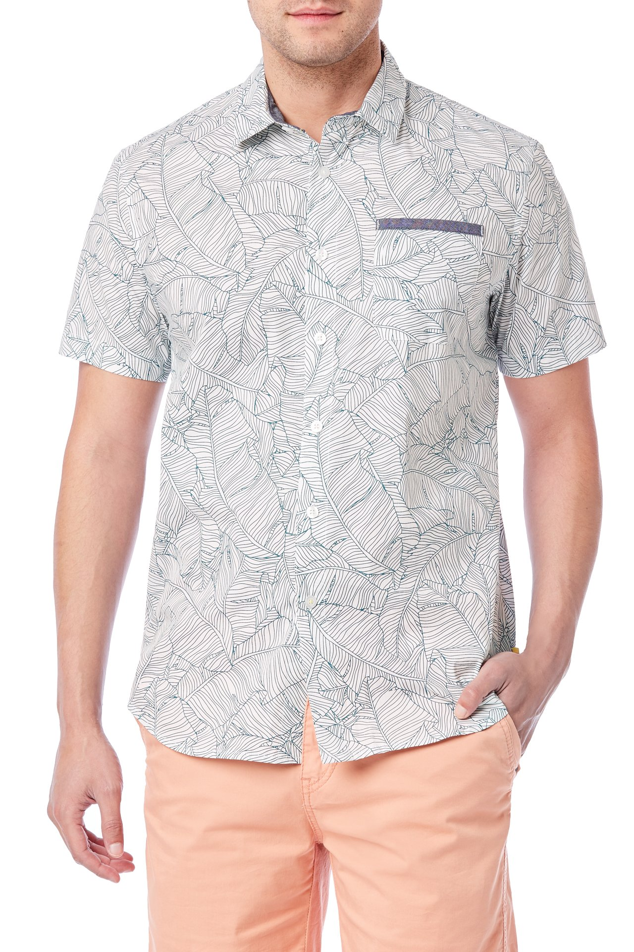 UNIONBAY Men's Classic Short Sleeve Poplin Button-up Woven Shirt, New White, Small by UNIONBAY