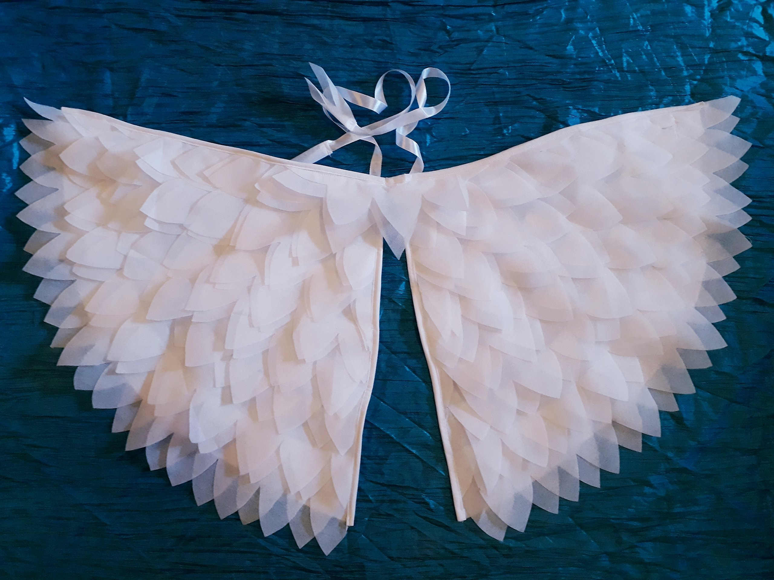 #Angel wings#play props#handmade#wings# light weight#soft flying# pretend play # bird wings# white wings#